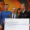 Funds raised for The Fire Fighters Charity by cycling to work